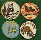 VINTAGE GIRL SCOUT FOUR 1970s CAMP ROBINWOOD TEXAS PATCHES