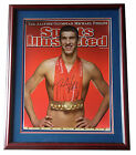 Michael Phelps Olympic gold signed 18x24 SI photo framed PIC proof signing COA