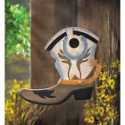 Western Cowboy Boot Bird House Home Garden Garden Decor Wild West