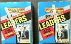 1990 Topps Baseball League Leaders 2 Box Lot Super Glossy Cards 72 Packs Total
