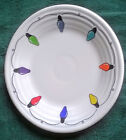 H.L.C Fiesta Luncheon Plate #0465 Christmas Lights Original Colorway #1