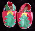 baby boy or girl ROBEEZ CHRISTMAS SHOES LEATHER size 0 3 month RED GREEN SUPER
