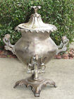 ANTIQUE SILVER ON COPPER-HOT WATER-COFFEE-URN