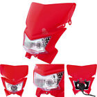 Red Universal Fairing Headlight Lamp for Yamaha YZ490 1982-1990 YZ60 1981-1983