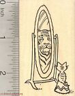 Kitten Rubber Stamp Cat Looking in Mirror at Tiger H28221 WM
