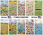 Kawaii Puffy Scrapbooking Kids Craft Diary Stickers FREE USA SHIPPING
