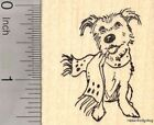 Christmas Terrier Dog in Scarf Rubber Stamp Winter or Hanukkah E19412 WM