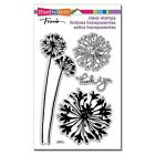 Stampendous Agapanthus Thanks Clear Stamp Set BrandNEW