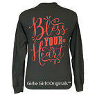 Girlie Girl Originals Bless Your Heart Long Sleeve Charcoal Unisex Fit T Shirt