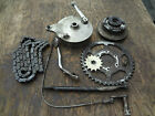 1976 SUZUKI RE5 ROTARY REAR BRAKE HUB SHOES STAY PEDAL ROD FRONT SPROCKET CHAIN