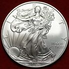 Uncirculated 2009 Philadelphia Mint American Eagle Silver Dollar Free Shipping