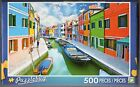500 Piece Jigsaw Puzzle Colorful Houses Burano Island Canal Venice Puzzlebug