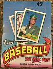 1989 Topps Baseball Box - 36 FACTORY SEALED Packs - Dave Winfield, Sutton Bottom
