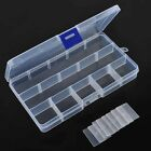 15 Compartments Adjustable Storage Box Case Craft Organizer Beads Container