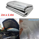 1m14m Heat Shield Mat Autos Turbo Exhaust Muffler Hood Insulation Barrier Pad