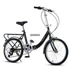 20 in Bicycle 7 Speed Folding Bike Cycling School Sports Commuter Back to School