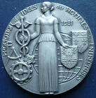 Huge French silver - plated Bronze medal by R. COULON