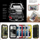 Shockproof Military Heavy Duty Gorilla Glass Metal Cover Case for iPhone X 8 7 6