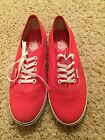 New Authentic Vans Lo Pro Sneakers Womens Size 8 Bright Pink  White