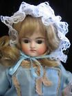 KESTNER CLOSED MOUTH ANTIQUE GERMAN BISQUE DOLL SLEEP EYES ~COUTURE DRESS ~ 1915