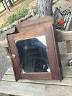 Vintage Oak Medicine Cabinet With Mirror Wall Mount Oak Medicine Chest