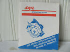 Vintage Skil Circular Saw Operating Guide Manual 1980's  Excellent Condition