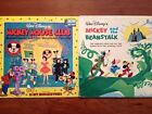Disney Vintage Record TWO Mickey Mouse Club Mickey and Beanstalk