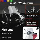 Clear Motorcycle Windscreens Windshield With Fitting Vespa2005 2014 Lx150 Lx50