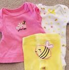 CARTERS PREEMIE 3PC HAPPY AS CAN BEE OUTFIT ADORABLE REBORN