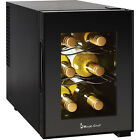 6-Bottle Wine Cooler Black Thermoelectric Refrigerator Dual Zone Beverage Cellar