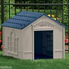 Deluxe Extra Large Pet Dog Cat House Home Outdoor Cage Durable Resin All Weather