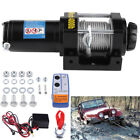12V 4000LBS Electric Winch Steel Cable Boat Winch 4WD ATV 4X4 With Remote US