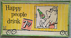 7 Up Cardboard Sign 1959 Advertising Happy People Drink Seven Up Train Hobo