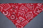 Dog Bandana OVER THE COLLARclothes pet Size SMLXL Red Traditional
