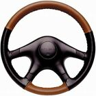 Custom Fit 1 Or 2 Color Leather Steering Wheel Cover Wheelskins 14 12 X 4 14