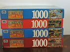 Lot of 4 Hometown Collection 1000 Piece Jigsaw Puzzles