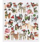 Scrapbooking Crafts Stickers Christmas Dogs Cat Pigs Ornaments Hats Stockings