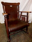 Rare Grandpa's Antique Wood Rocking Chair, Estate Sale. Not Sure of Vintage Year