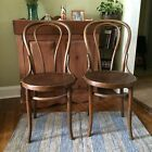 Set Of 2 Vintage Bentwood Cafe Chairs Peacock Seat Thonet Kohn Made In Poland