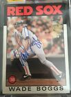 2016 Topps Archives All-Star Wade Boggs Auto Autograph SP #d 1 1 1986 Red Sox