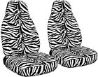 Universal Velvet Zebra Car Seat Covers 9 Color Options