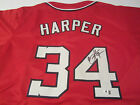 Bryce Harper Washington Nationals Hand Signed Autographed Jersey GA Certified