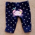 CARTERS PREEMIE POKADOT CRAB PANTS LEGGINGS ADORABLE REBORN