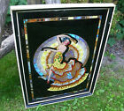 VINTAGE ART DECO LARGE COLOURFUL BUTTERFLY WING PICTURE SPANISH FLAMENCO DANCER