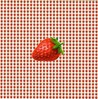 STRAWBERRIES Singles Small BLOTTER ART Perforated Sheet acid free art page