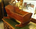 Antique American Tiger Maple Cradle Early 1800's