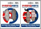 Hyosung XRX 125 Supermoto 07-11 Full Set Front & Rear Brake Pads (2 Pairs)