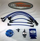 JEEP WRANGLER 40L IGNITION TUNE UP UPGRADE KIT YJ TJ 1994 97 BLUE CAP + WIRES