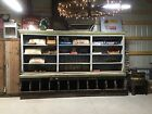 Antique 1900's Country General Store Wall Cabinet Counter Cupboard Bins PATINA!