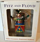 New! Fitz & Floyd Old Fashioned Jack In The Box Glass Ornament Christmas Tree